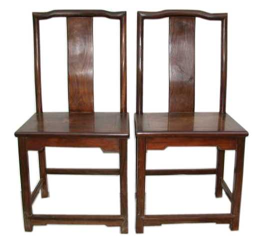 Pair of Antique Huanghuali Chairs