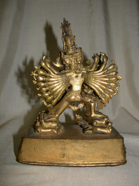 Tibetan gilt Bronze Vajrabhairava with Consort