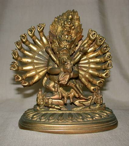 Tibetan gilt Bronze Vajrabhairava with Consort 2