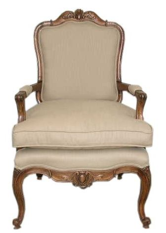 French Provincial Furniture, Country French  Furniture -  French Provincial Chairs : French bergere chair
